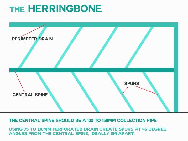herringbone drainage pattern